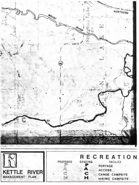 2 pages - Insert of Kettle River Recreation Management map, plate 2 here