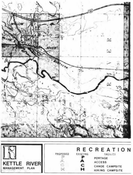 2 pages - Insert of Kettle River Recreation Management map, plate 3 here