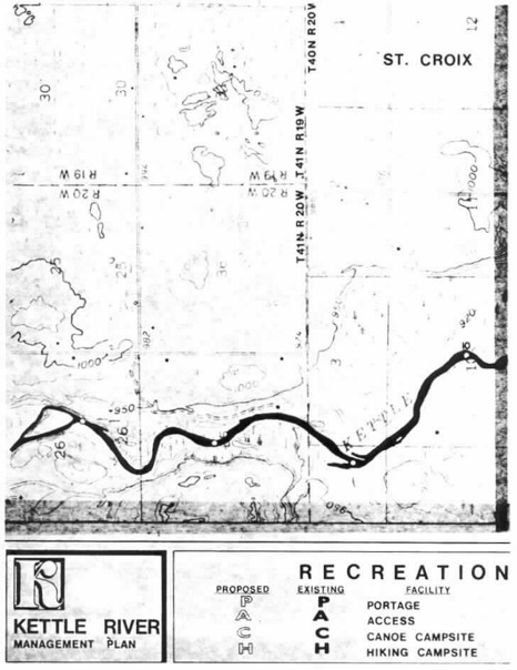 2 pages - Insert of Kettle River Recreation Management map, plate 7 here