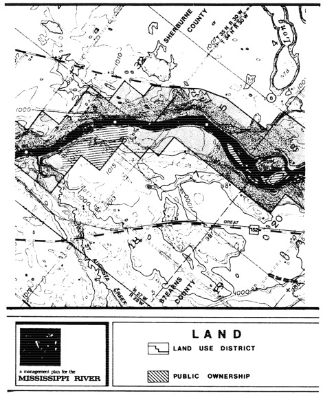 2 pages - Insert of Mississippi River Land Management map, plate 2 here