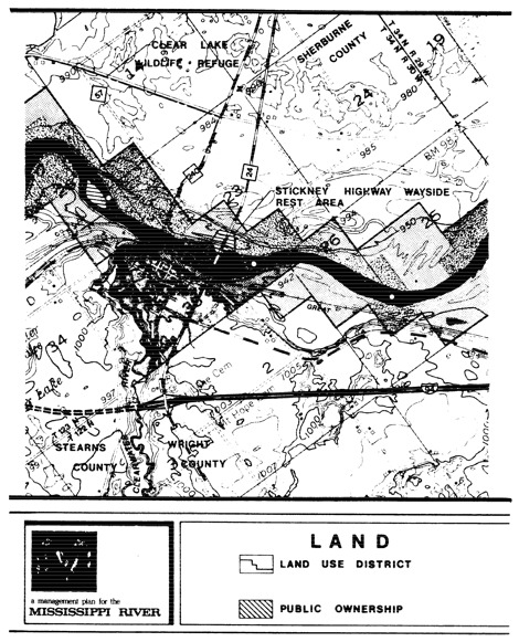 2 pages - Insert of Mississippi River Land Management map, plate 3 here
