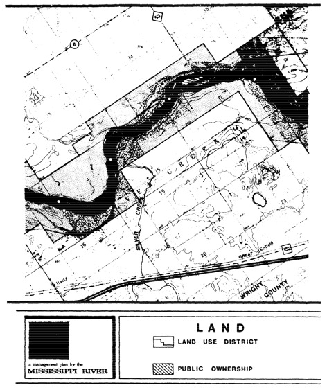 2 pages - Insert of Mississippi River Land Management map, plate 4 here