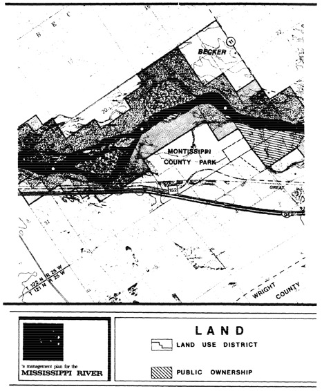 2 pages - Insert of Mississippi River Land Management map, plate 5 here