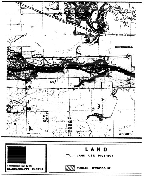 2 pages - Insert of Mississippi River Land Management map, plate 7 here