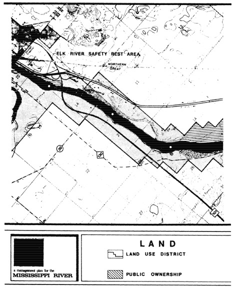 2 pages - Insert of Mississippi River Land Management map, plate 8 here