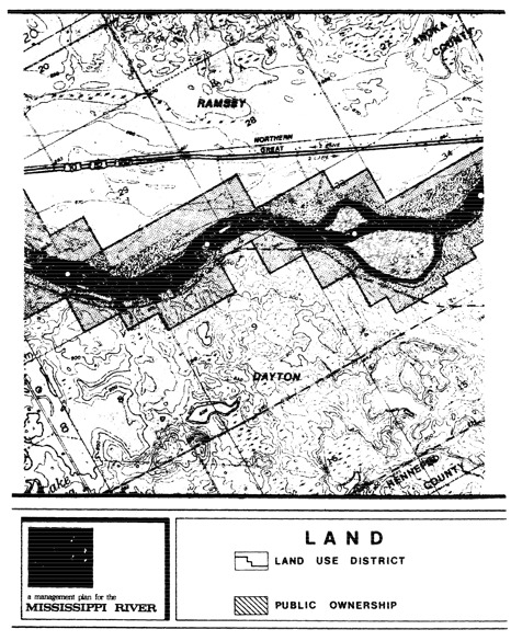 2 pages - Insert of Mississippi River Land Management map, plate 9 here