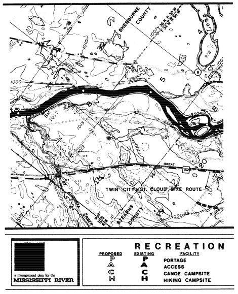 2 pages - Insert Mississippi River Recreation Management map, plate 2 here