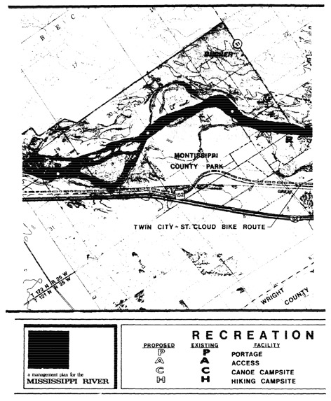 2 pages - Insert Mississippi River Recreation Management map, plate 5 here
