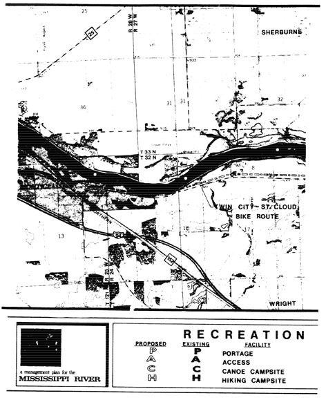 2 pages - Insert Mississippi River Recreation Management map, plate 6 here