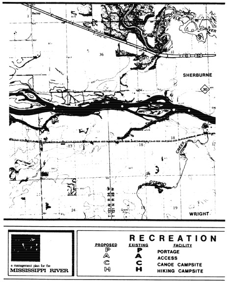 2 pages - Insert Mississippi River Recreation Management map, plate 7 here