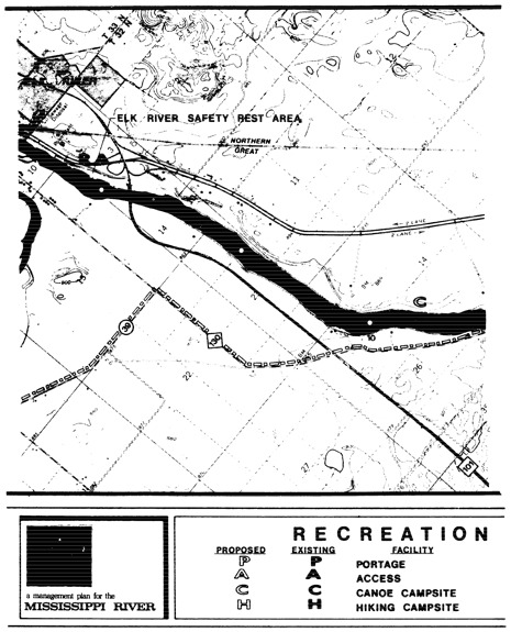 2 pages - Insert Mississippi River Recreation Management map, plate 8 here