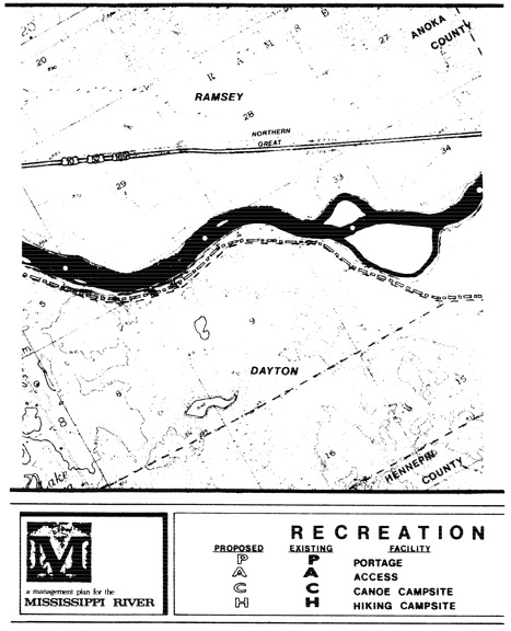 2 pages - Insert Mississippi River Recreation Management map, plate 9 here