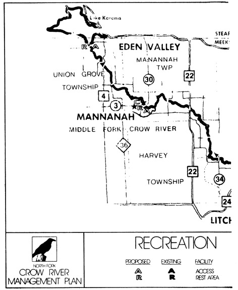 2 pages - Insert Crow River recreation and management maps here.